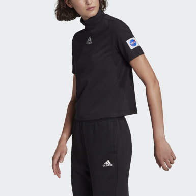 Women Athletics Black adidas Sportswear Crop T-Shirt