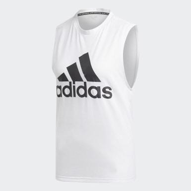 Camiseta sin mangas Must Haves Badge of Sport Blanco Mujer Athletics