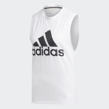 Dames Athletics Wit Must Haves Badge of Sport Tanktop