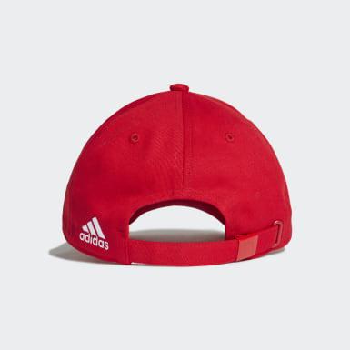 Cappellino 3-Stripes FC Bayern München Rosso Calcio