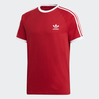 Men Originals Red 3-Stripes Tee