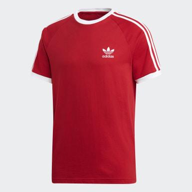 Muži Originals červená Tričko 3-Stripes