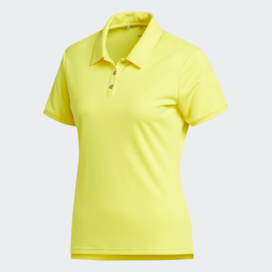 Playera Polo Tournament Amarillo Mujer Golf