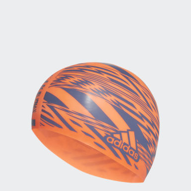 Swimming Orange Tokyo Graphic Swim Cap