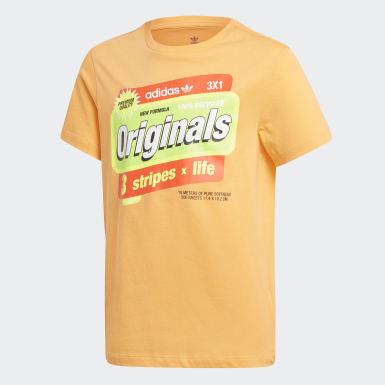 оранжевый Футболка Graphic