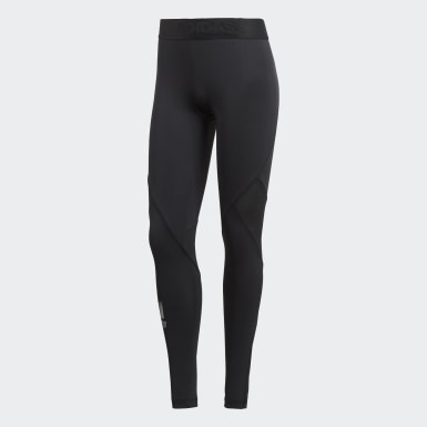 Women Outdoor Black Alphaskin Sport Long Tights