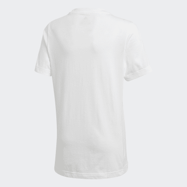 Camiseta Must Haves Badge of Sport Blanco Niño Training