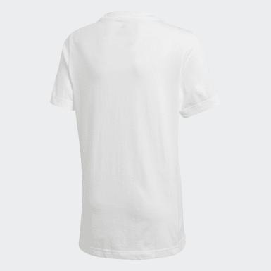 Boys Træning Hvid Must Haves Badge of Sport T-shirt