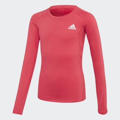 Camiseta Alphaskin Warm AEROREADY Warming Rosa Niña Training