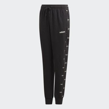 Children Sport Inspired Black Motion Allover Print Pants