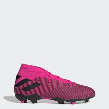 Bota de fútbol Nemeziz 19.3 césped natural seco Rosa Mujer Fútbol