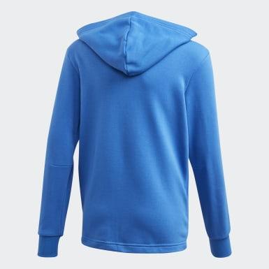 Boys Træning Blå Must Haves 3-Stripes jakke