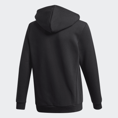 Boys Lifestyle Black Must Haves Fleece Full-Zip Hoodie