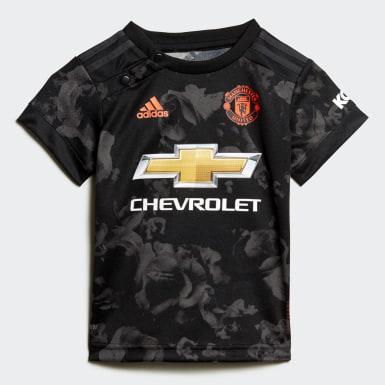 Terceiro Equipamento do Manchester United para Bebé Preto Criança Futebol