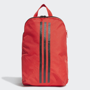Kids Training Red Classic 3-Stripes Backpack