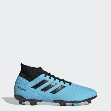 Calzado de Fútbol Predator 19.3 Terreno Firme Azul Hombre Fútbol
