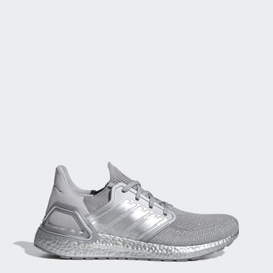 Men Running Silver Ultraboost 20 Shoes