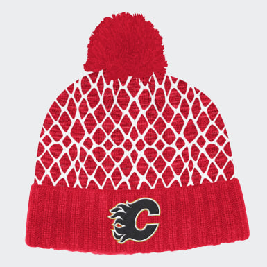 Men Hockey Multicolor Calgary Flames Cuffed Knit Pom Hat