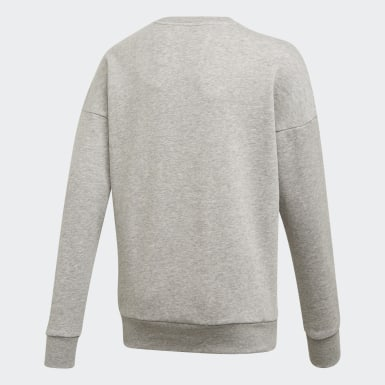 Sudadera Must Haves Badge of Sport Gris Niño Training