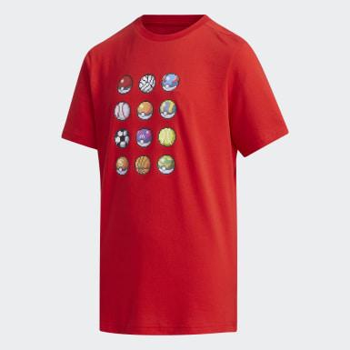 เด็กผู้ชาย Sport Inspired สีแดง เสื้อยืด Pokémon