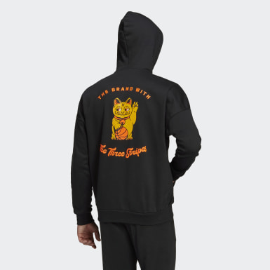 Herr Athletics Svart The Lucky Cat Graphic Hoodie