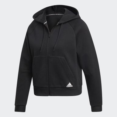 Frauen Athletics Must Haves Kapuzenjacke Schwarz