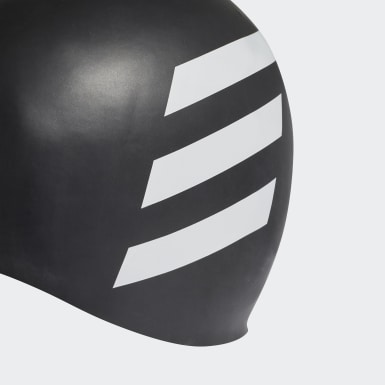 Gorro de Natación 3 Franjas (UNISEX) Negro Natación