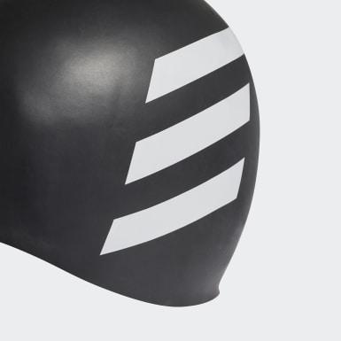 Gorro de Natación 3 Tiras (UNISEX) Negro Natación