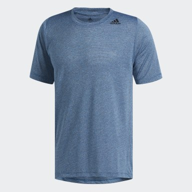 Men Training Turquoise FreeLift Tech Climalite Fitted Tee