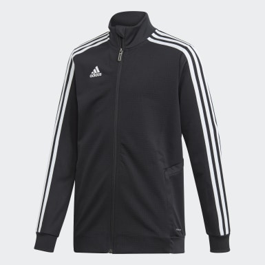 Kids Football Black Tiro 19 Training Jacket