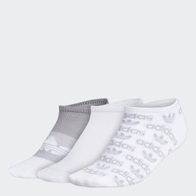 Women's Originals White Graphic No-Show Socks 3 Pairs