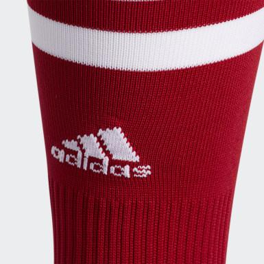 Training Red 3-Stripes Hoop Socks