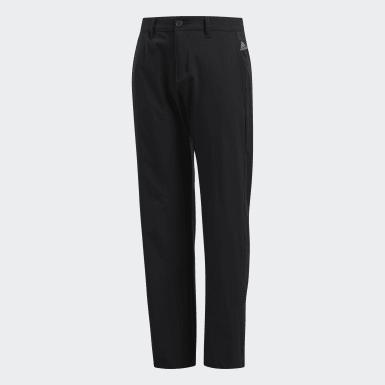 Boys Golf Black Solid Pants