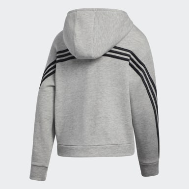 Children Training Grey Stripe Hoodie