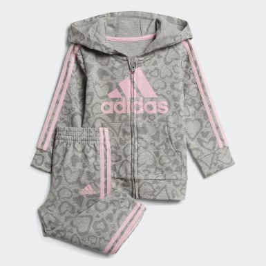 Infant & Toddler Training Grey Leopard Print French Terry Jacket and Joggers Set