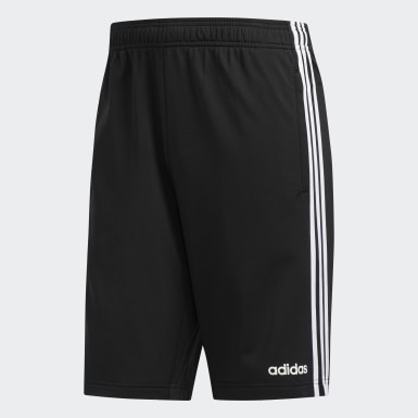 Men's Essentials Black Essentials 3-Stripes Shorts