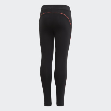 Girls Training Black Cotton Leggings