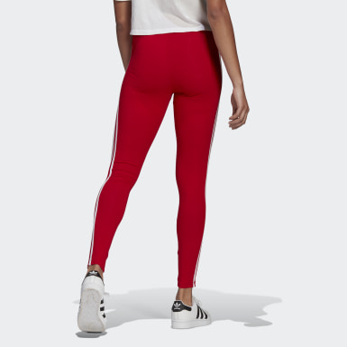 Women's Originals Red Adicolor Classics 3-Stripes Tights