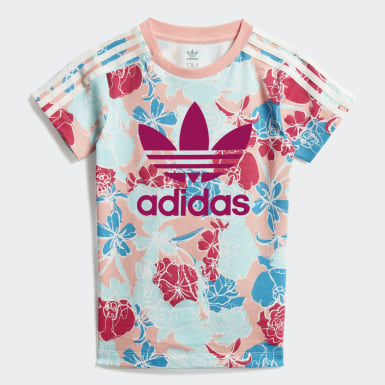 เด็ก Originals สีชมพู ชุดกระโปรงเสื้อยืดและกางเกงเลกกิ้ง