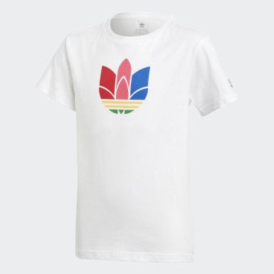 Adicolor 3D Trefoil T-skjorte Hvit