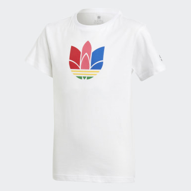 T-shirt Adicolor 3D Trefoil blanc Adolescents Originals
