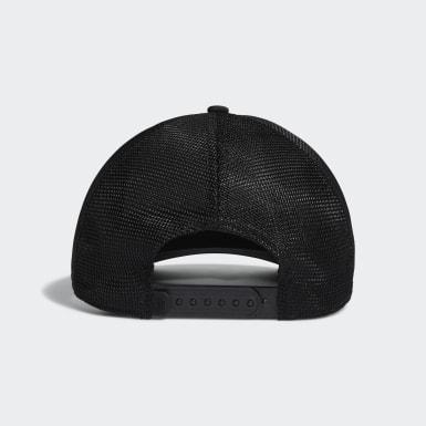 Men Golf Black Blocked Trucker Hat