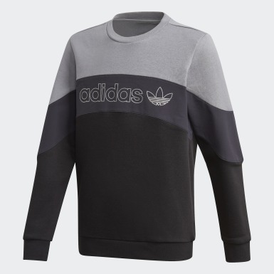 Sweat-shirt BX-20 Crew Gris Enfants Originals