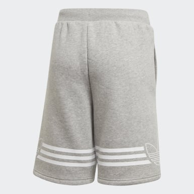 Boys Originals Grey Outline Shorts