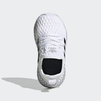 Kids Originals White Deerupt Runner Shoes