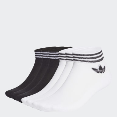 Originals White Trefoil Mid-Cut Ankle Socks 6 Pairs