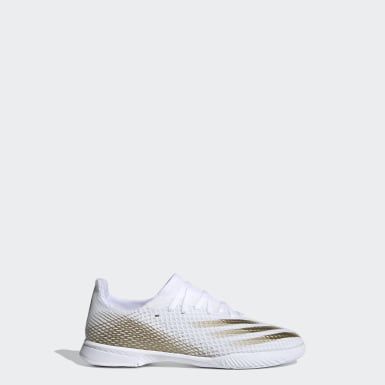 Boys Football White X Ghosted.3 Indoor Boots