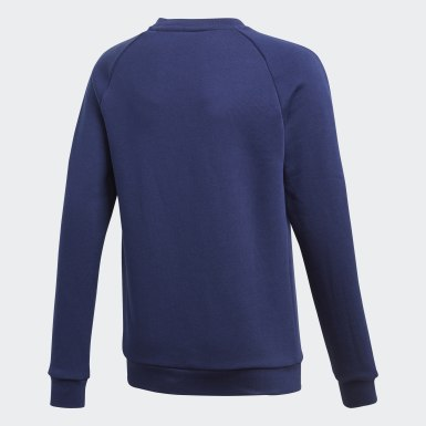 Kinder Training Core 18 Sweatshirt Blau