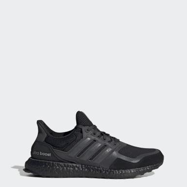Men Running Black Ultraboost S&L Shoes