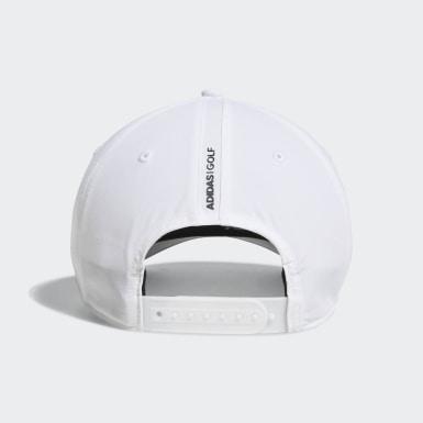 Men Golf White A-Stretch adidas Badge of Sport Tour Hat